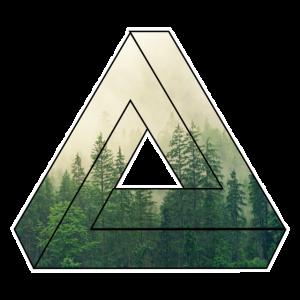Natur Dreieck Wald / Geschenk