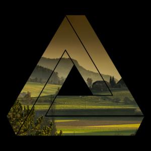 Natur Dreieck / Wiesen und Felder / Geschenk