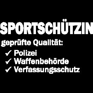 Sportschuetzin gepruefte Qualitaet
