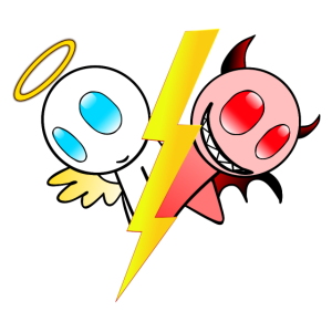 Engel oder Teufel. Gut oder böse. Lieb oder frech