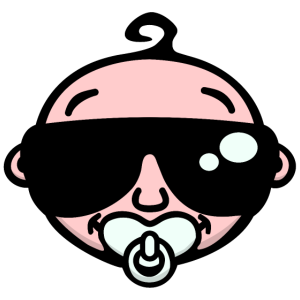 Cool Baby mit Sonnenbrille (Farbe)