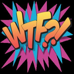 WTF?! - Pop Art, Comic-Stil, Text Burst.