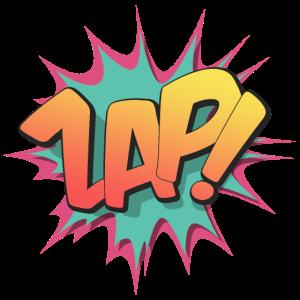 Zap! - Pop Art, Comic-Stil, Text Burst.