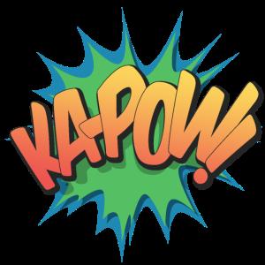 Ka-Pow! - Pop Art, Comic-Stil, Text Burst.