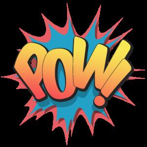 Pow! - Pop Art, Comic-Stil, Text Burst.