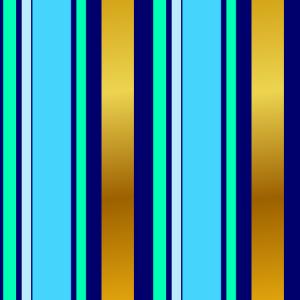 Streifenmuster blau türkis gold