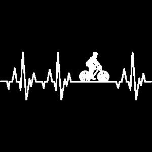 Mountainbike Herzschlag MTB Fahrrad Mountainbiken