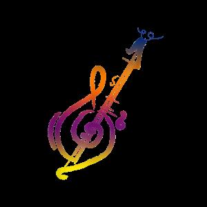 Guitar TShirt Musical Instrument Treble Clef Bass