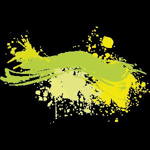 Farbe Klecks Spritzer Maler Geschenk bunt Strich