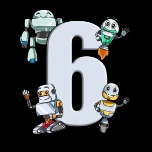 Roboter Kindergeburtstag - 6 Jahre