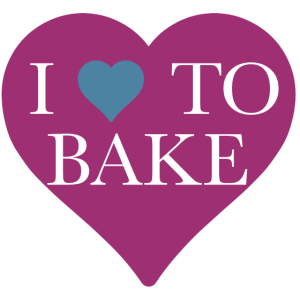 I love to bake Kochschürze