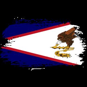 Amerikanisch Samoa Flagge Geschenkidee