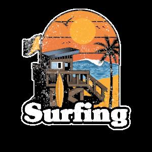 Surfing Wellenreiten Hawaii Strand Surfen Geschenk