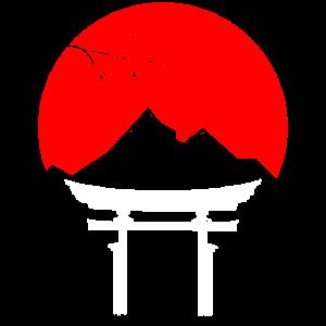 Traditionelles Tor im Wasser Japan
