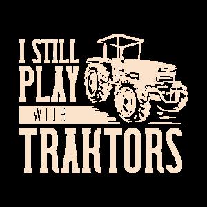 I still play with traktors Chicken Farmer Cow
