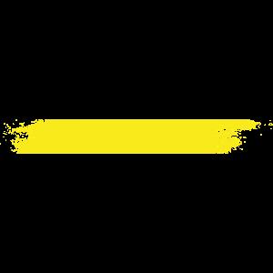 Farbe Klecks Spritzer Maler Geschenk Streifen gelb