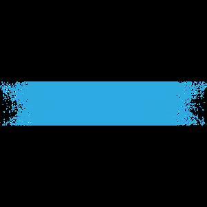 Farbe Klecks Spritzer Maler Geschenk Strich blau