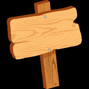 schlichtes Holzschild für eigene Beschriftung