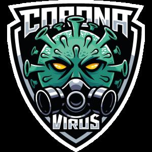 Corona Influenza Virus mit Gesichtsmaske