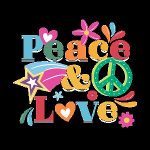 Hippie Peace Liebe   Hippies Kostüm Blume Geschenk