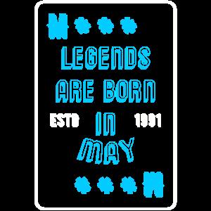 Legenden werden im Mai 1991 Geburtstag geboren