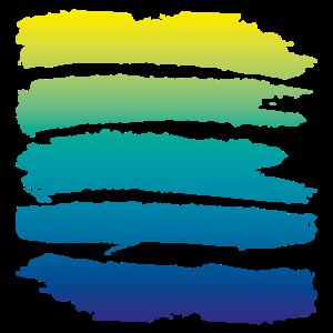 Bunte Streifen, Farbverlauf