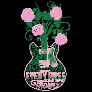 Gitarre rosa Rosen für Rocker Ladys