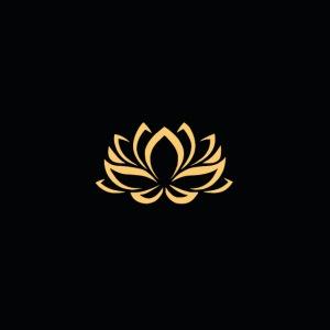 Goldenes Blumenmuster