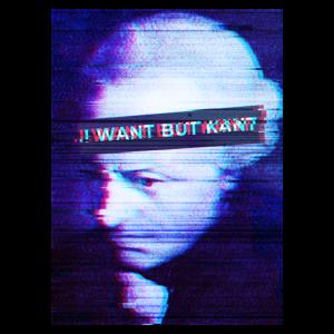 Philosophie Meme Kant Vaporwave Glitch Effect