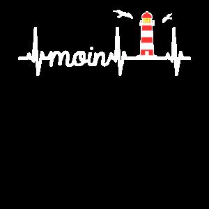 Moin Schriftzug & Herzschlag norddeutsch