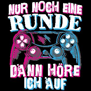 Gamer Zocker Gaming Vaporwave Nur noch eine Runde