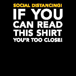 Soziale Distanz - Wenn du das lesen ... zu nah!