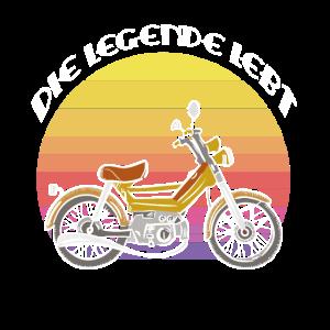 Moped Legende Mofa Vintage Design Die legende Lebt
