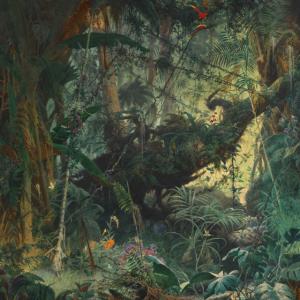 Adolf Schrödter, Brasilianischer Urwald, um 1868