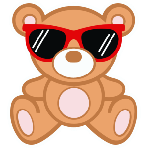 Teddy Cool  - süßer Teddybär mit Sonnenbrille