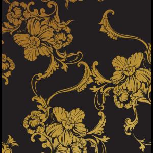 Gold Blumen Muster