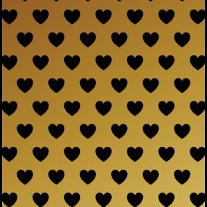 Gold Herzen Muster