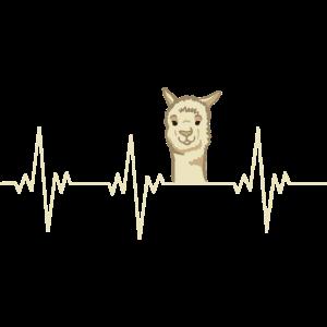 Heartbeat Alpaca Herzschlag Alpaka