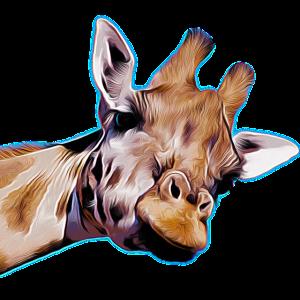 Lustige Giraffe Langhals in der Natur