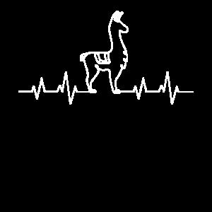 Alpaka Herzschlag Alpakas Puls EKG Lama