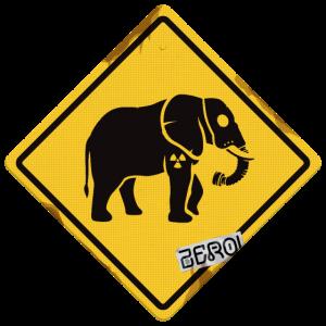 Beschilderung Nuclear Elephant Rost