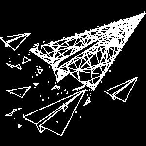 Papierflieger Polygon Technik Zeichnung