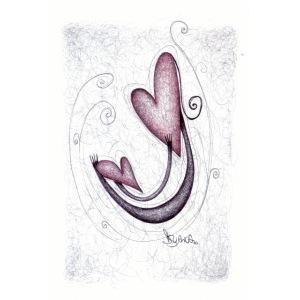 Amore Universale. Abbraccio tra cuori.