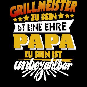 Papa Grillmeister Vatertag grillen Geschenk Grill