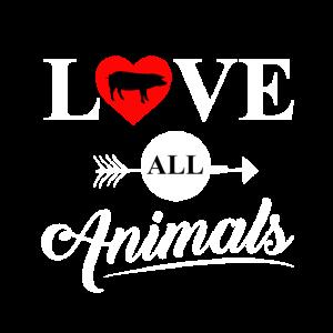 Liebe alle Tiere - Veganer