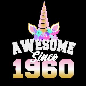 Awesome since 1960 60. Geburtstag Frauen