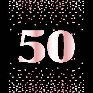 50 Jahre Geburtstag Geschenk Frauen Konfetti