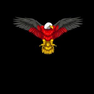 Deutscher Adler - Deutschland Flagge