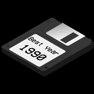 Bestes Jahr Floppy 1990 schattiert