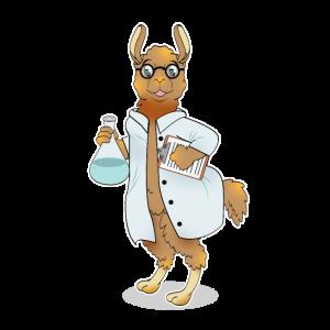 Lustig Llama Alpaka Chemiker Geschenk